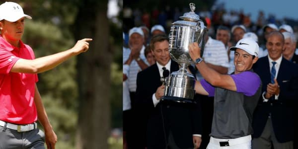 Jordan Spieth (li.) schiebt den zweimaligen PGA Championship Sieger Rory McIlroy die Favoritenrolle für das letzte major des Jahres zu. (Foto: Getty)