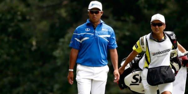 Hideki Matsuyama stark unterwegs bei der WGC - Bridgestone Invitational. Der Blick ins Bag. (Foto: Getty)