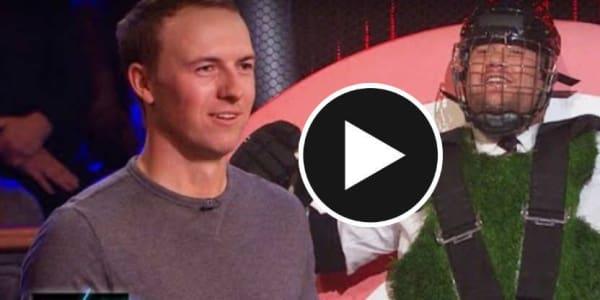 Jordan Spieth hat seinen Spaß mit James Corden und Barack Obama. (Screenshot: Youtube/The Late Late Show with James Corden)