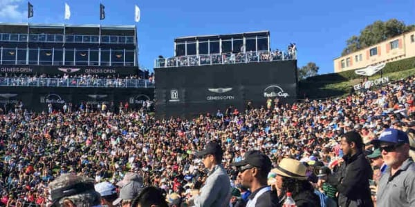 Ber der Genesis Open sorgten einige Fans für Gesprächsstoff. (Foto: twitter.com/genesisopen)