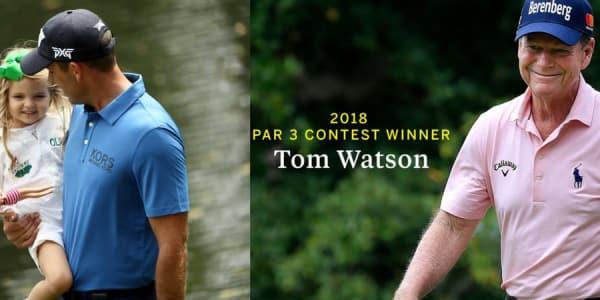 Der Par-3-Contest beim US Masters 2018 stand wie immer im Zeichen der ganz jungen, aber diesmal auch der ältesten Generation. (Foto: Getty / twitter.com/TheMasters)