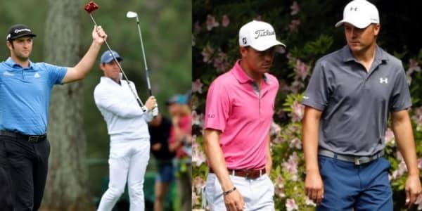 Beim US Masters 2018 geht es für einige Profis neben dem Grünen Jackett auch um die Spitzenposition in der Weltrangliste. (Foto: twitter.com/NFLCommentary / twitter.com/JonRahmpga)