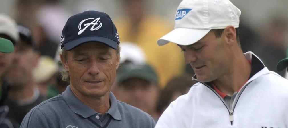 Bernhard Langer und Martin Kaymer erwischten interessante Paarungen in ihren Flights für die ersten beiden Runden beim Masters
