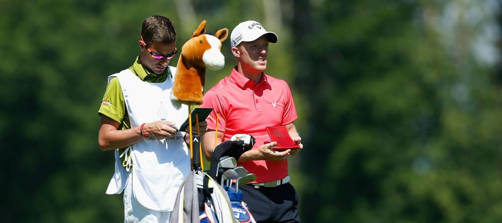 David Horsey aus England und sein Caddy fällten die richtigen Entscheidungen bei der Russian Open. (Foto: Getty)
