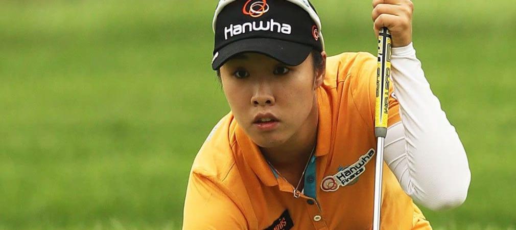 Haeji Kang liegt nach der ersten Runde beim Heimspiel der LPGA Tour in Südkorea an der Spitze.