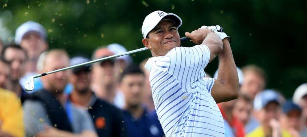 Richtig abschlagen konnte Tiger Woods zuletzt bei der PGA Championship in August. Nun ist Tiger wieder im Training und plant sein Comeback bei der World Hero Challenge. ( Foto: Getty Images)