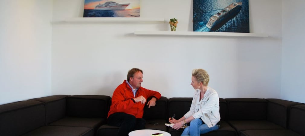 Guido Tillmanns (li.) im Interview mit Golf Post: