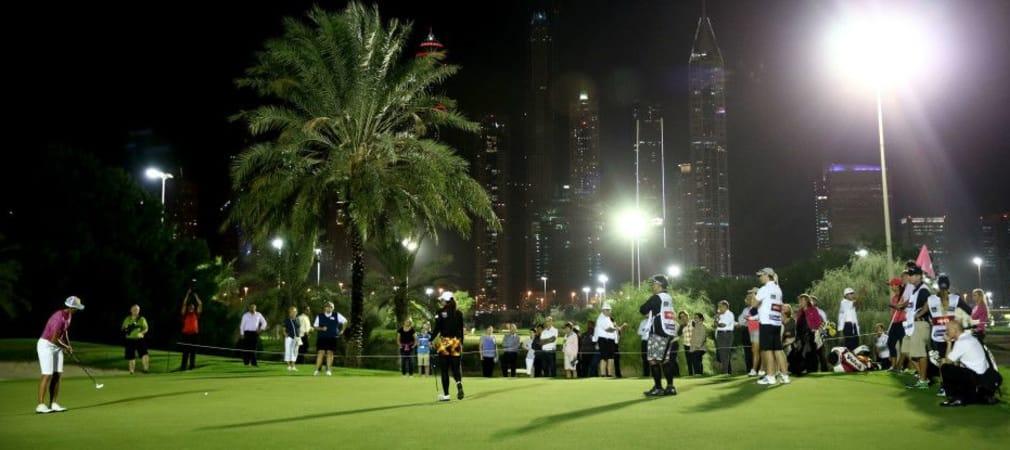 Noch werden Flutlichtmasten auf Golfplätzen nur für Trainingseinheiten oder Show-Matches angeschaltet. In Zukunft könnten ganze Finals am Abend stattfinden.