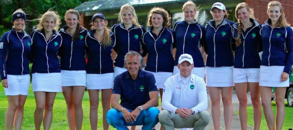 Die Damen des Golfclub Hubbelraths konnten auch den zweiten Spieltag der Kramski DGL für sich entscheiden. (Foto: DGV/ Tiess, Schult)