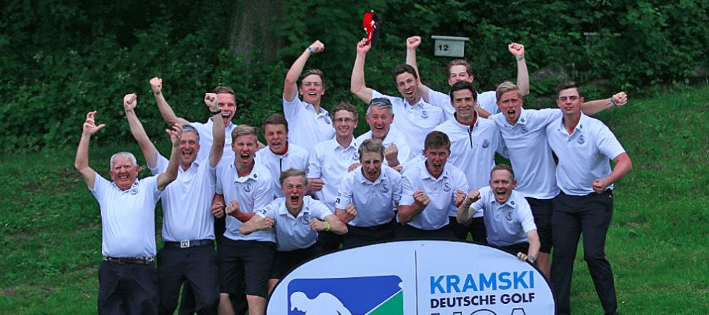Jubel beim Hamburger Golfclub – Erneuter Tagessieg nach einem unfassbar spannendem Spieltag. (Foto: DGV/stebl)
