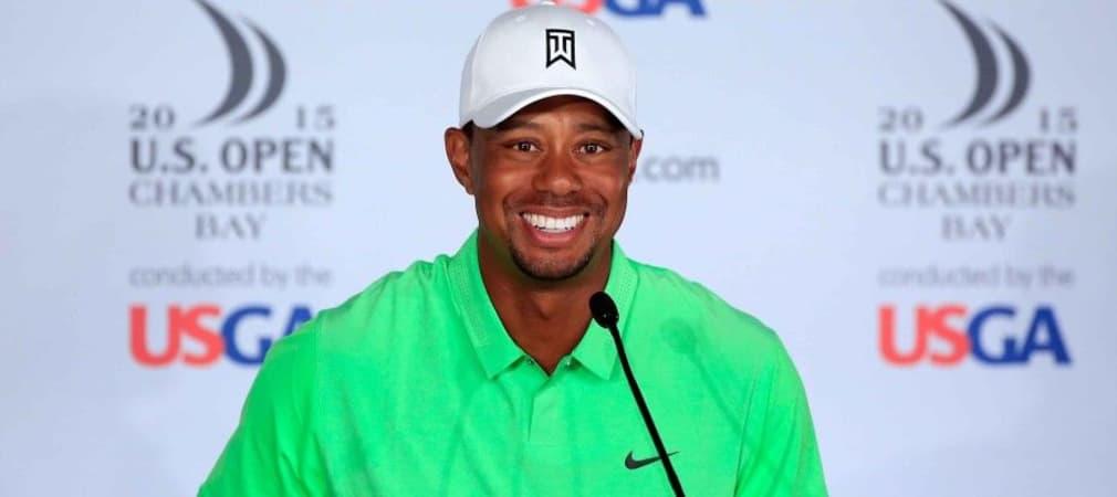 Tiger Woods spircht auf der PK über den Platz und seinen Auftritt bei der US Open. (Foto: Getty)