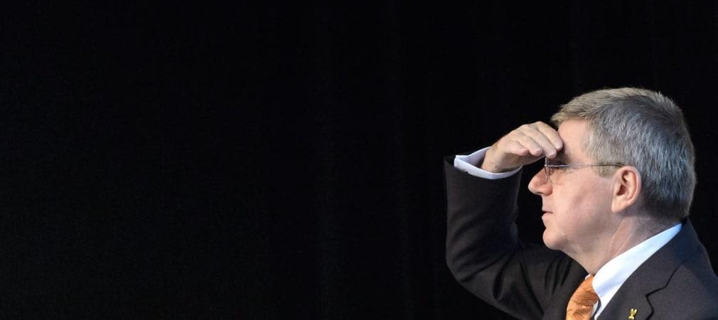 Thomas Bach, Präsident des internationalen Olympischen Kommitees, sprach in St. Andrews bei der Pressekonferenz über die Olympischen Spiele 2016 in Rio de Janeiro. (Foto: Getty)