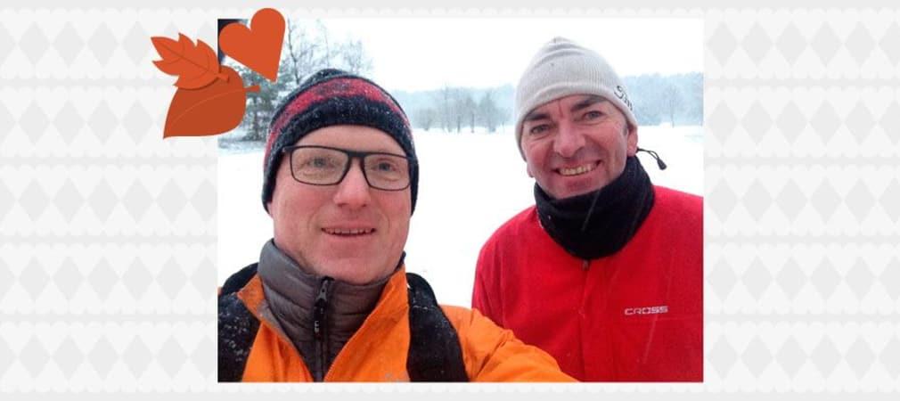 Auf diesem Bild zu sehen Jens-Jürgen H. mit seinem Freund Peter. Von den beiden stammt das schönste Golferlebnis 2015