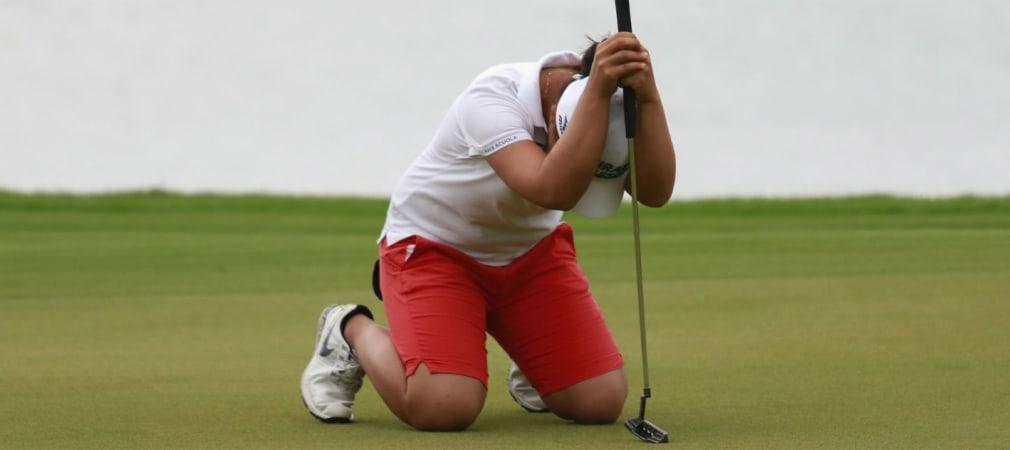 Manchmal ist es einfach zu Haareraufen, wenn der Ball nicht so will, wie der Golfer. (Foto: Getty)