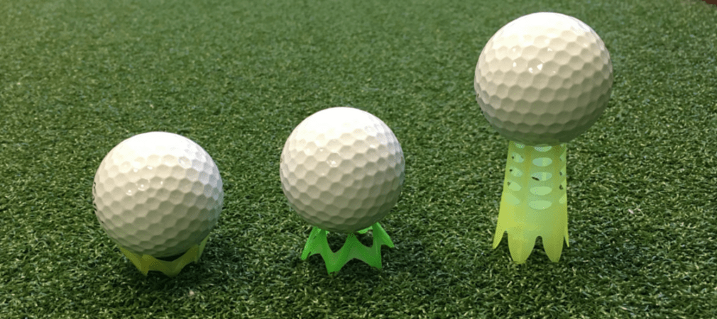 Die Aero Spark Golf Tees von links nach rechts: 6mm, 13mm und 45mm. (Foto: Golf Post)