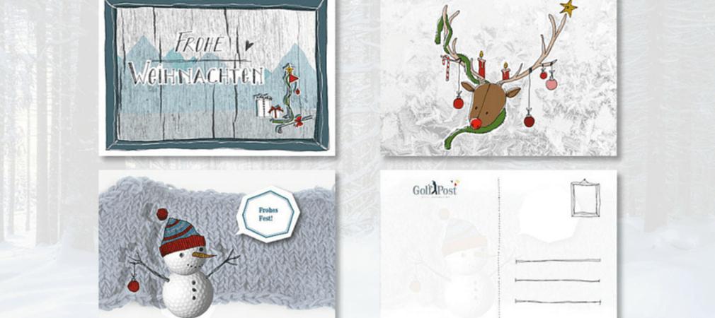 Die Golf Post Weihnachtskarten: Überraschen Sie Ihre Freunde und Verwandten mit einem Weihnachtsgruß. (Bild: Golf Post)