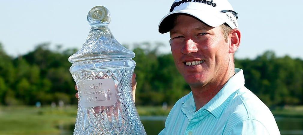 Jim Herman gewinnt nach über 100 PGA-Tour-Starts mit der Shell Houston Open seinen ersten Titel.