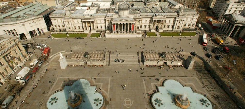 Viel Raum für Golf-Träume: Der Trafalgar Square in London könnte im September zu einem kunstvollen Golfkurs umgestaltet werden. (Foto: Getty)