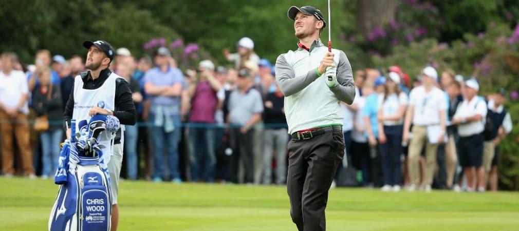 Chris Wood holt sich mit einem bunten Bag den Sieg bei der BMW PGA Championship. (Foto: Getty)