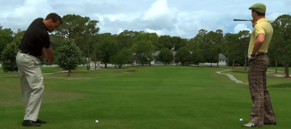 Liebe Damen, nehmt Euch in Acht, wenn Ihr den lieben Gatten zum Golfplatz begleitet - das könnte übel enden. (Screenshot)