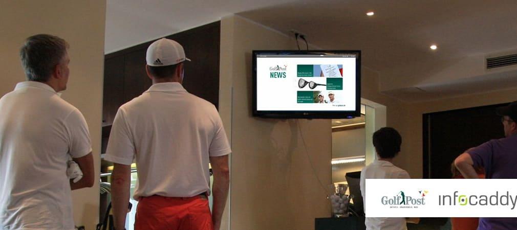 infocaddy präsentiert spannende Inhalte in zahlreichen Golfclubs. Golf Post ist auch Bestandteil des Programms. (Foto: infocaddy)