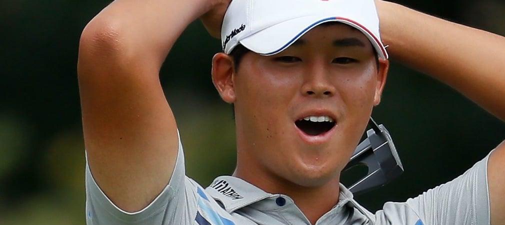 Der Südkoreaner Si Woo Kim schrammte am zweiten Tag der Wyndham Championship um einen Schlag an der 59 vorbei.