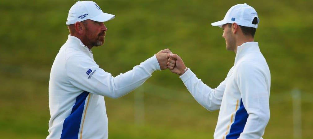 Martin Kaymer hat mit Vize-Kapitän Thoas Björn den perfekten Flightpartner für die Made in Denmark. (Foto: Getty)