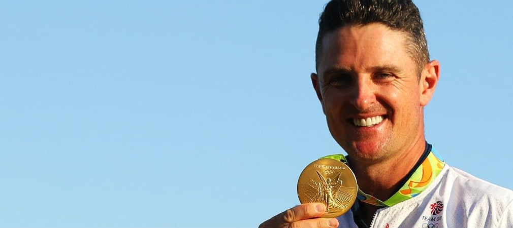In einem packenden Finale sticht Justin Rose Henrik Stenson aus und greift sich Gold! (Foto: Getty)