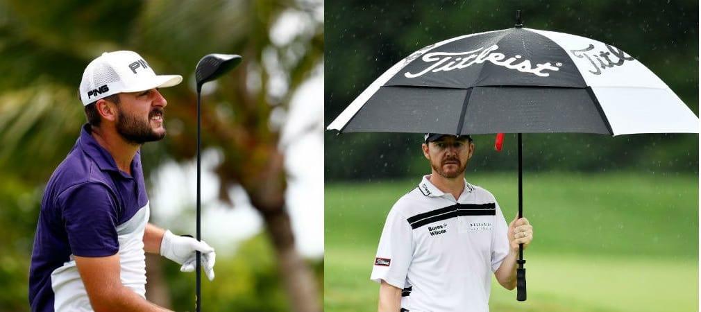 Stephan Jäger (re.) knackte mit Ping zahlreiche Rekorde, während Jimmy Walker bei der PGA Championship mit Titleist den Sieg einfahren konnte. (Foto: Getty)