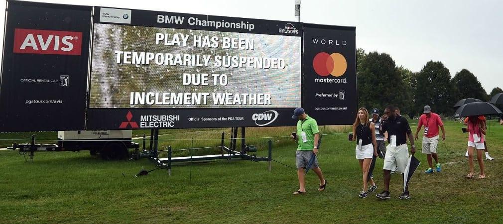 Die erste Runde der BMW Championship musste aufgrund einer Regenunterbrechung und anschließender Dunkelheit abgebrochen werden. (Foto: Getty)