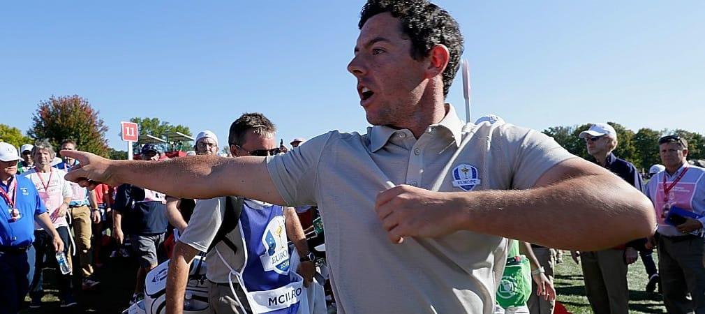 Das ging selbst dem Nordiren zu weit: Rory McIlroy empörte sich über die Äußerungen eines US-Fans. (Foto: Getty)