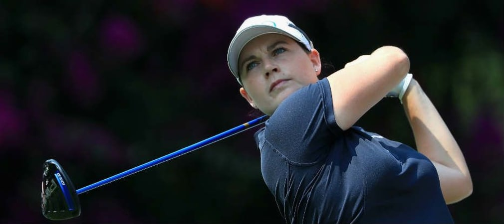 Caroline Masson kämpft sich durch bei der windigen Pure Silk Bahamas LPGA Classic. (Foto: Getty)