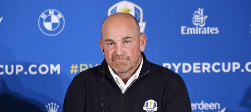 Thomas Björn, der Kapitän des diesjährigen europäischen Teams beim Ryder Cup, ist nicht glücklich über die jüngste Absage. (Foto: Getty)