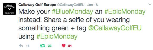 Callaway Tweet