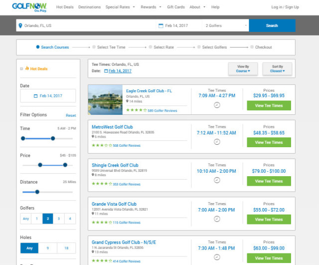 Golfnow Hot Deals Golfnow