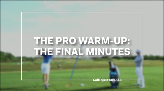 The Pro Warm-Up: The Final Minutes