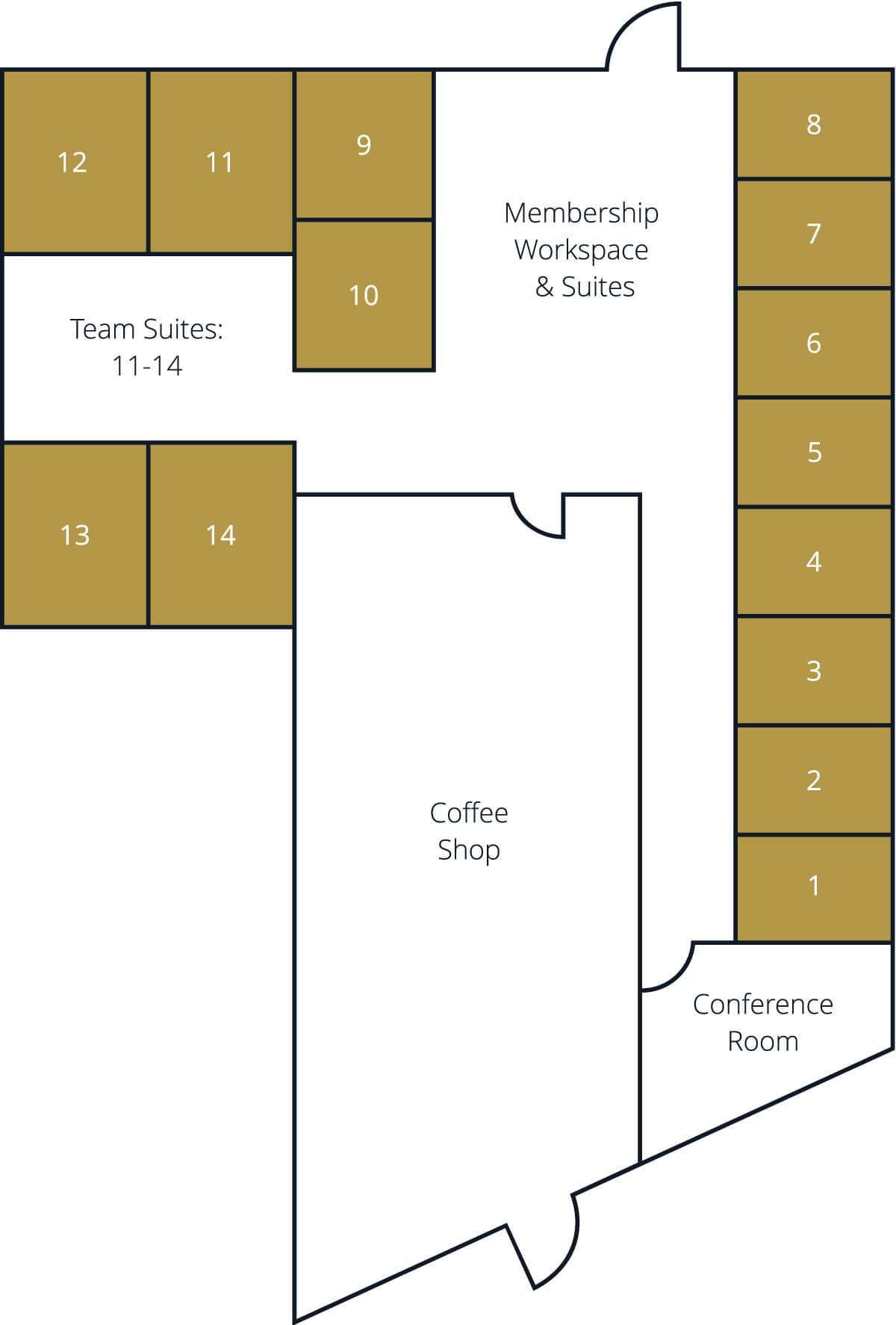 fort worth coworking space layout