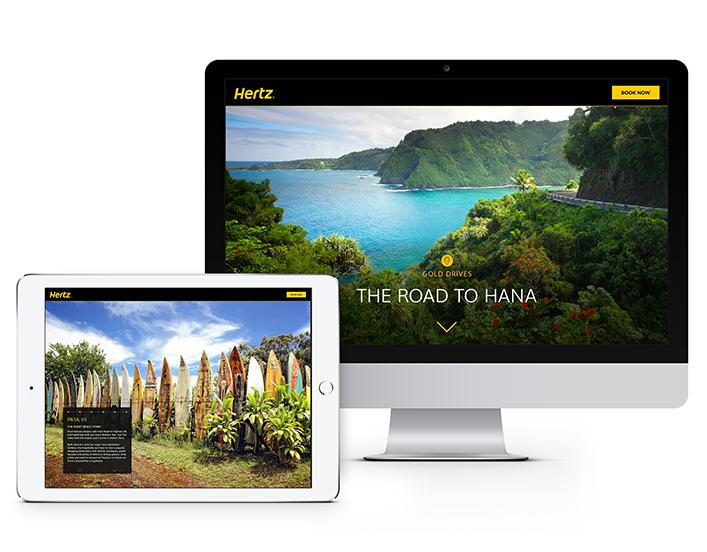 hertz customer loyalty program mobile and desktop application