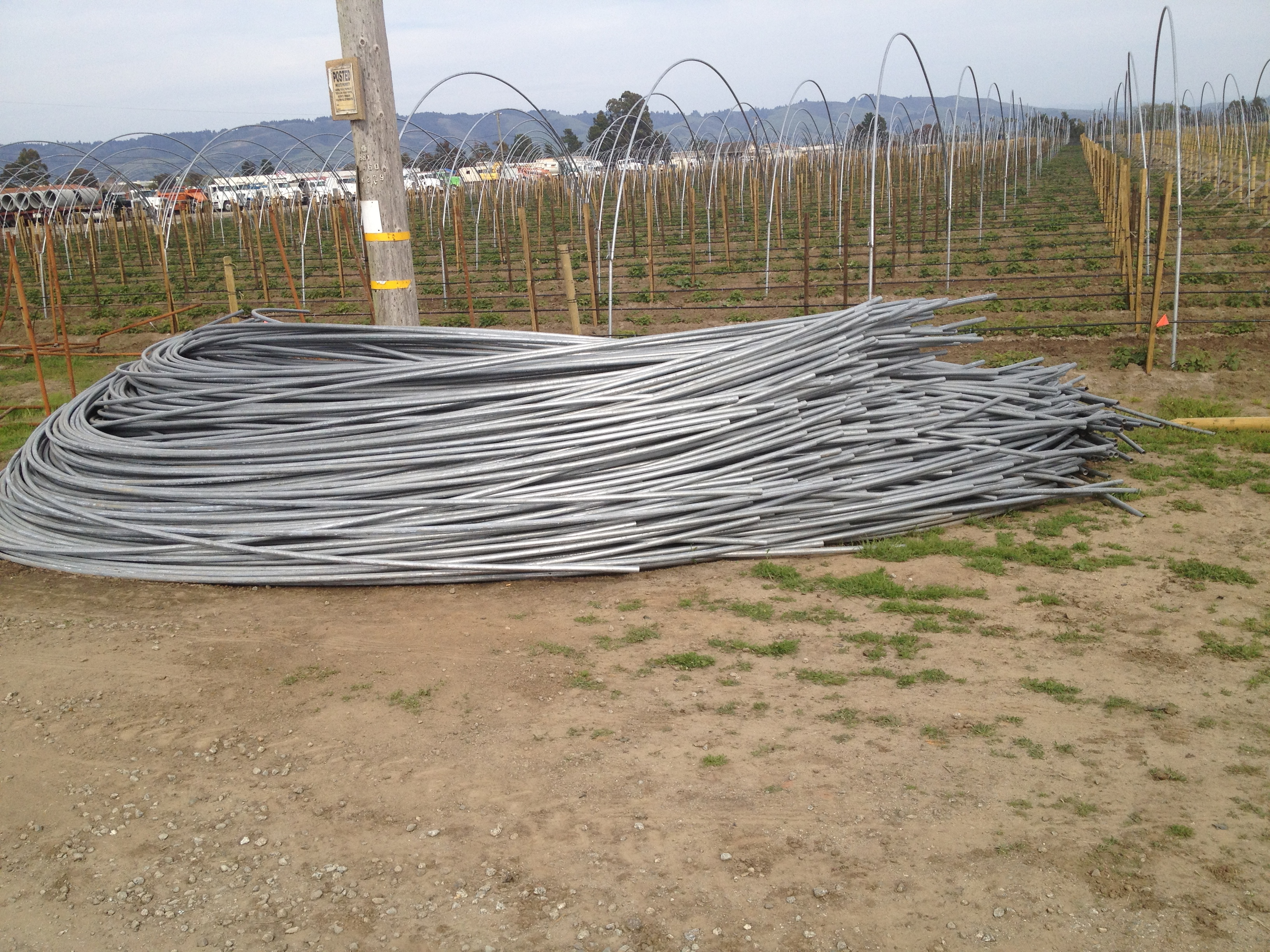 Galvenize Posts for Greenhouses