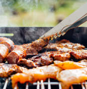 food chicken meat outdoors