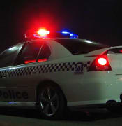 NSW Police car 2006 NYE