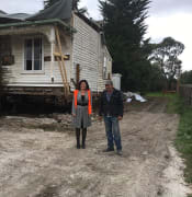 samantha mcintosh with botanic gardens gatekeepers cottage leaving gregory street june 2017