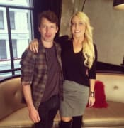 Mel with James Blunt