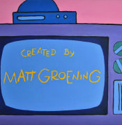 """""""Art of the Pre-war Period"""": The Simpsons meme (painting by A. Powers-Fudyma)"""