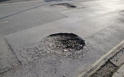 Newport Whitepit Lane pot hole