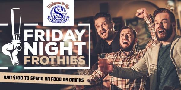 Fridaynightfrothies smithtonclub