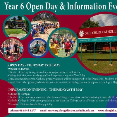 Year 6 Open Day and Information Evening