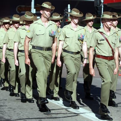 1024px Australian soldiers with the 5th Battalion Royal Australian Regiment march in an Anzac Day parade in Darwin Australia April 25 2013 130425 M AL626 013