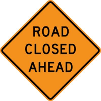 Road closed FREE pic
