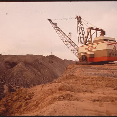 Strip Mining with Dragline Equipment at the Navajo Mine in Northern Arizona 06/1972